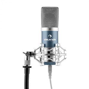 Auna Pro MIC-900BL, kék, USB, kondenzátoros mikrofon, kardioid, stúdió kép