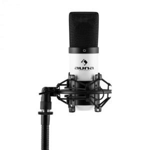 Auna Pro MIC-900WH, fehér, USB, kondenzátoros mikrofon, kardioid, stúdió kép