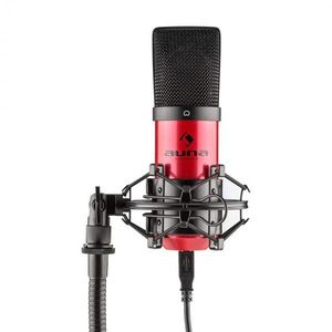 Auna Pro MIC-900-RD, piros, USB, kondenzátoros mikrofon, kardioid, stúdió kép