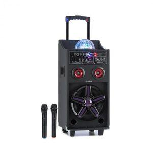 Auna DisGo Box 100, hordozható PA rendszer, 50 W RMS, BT, SD slot, LED, USB, akkumulátor, fekete kép