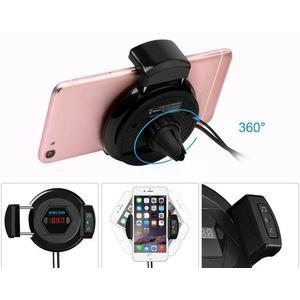 Forgatható autós telefontartó és Bluetooth FM Transzmitter/töltő kép