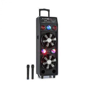 Auna DisGo Box 2100, PA rendszer, 100 W RMS, BT, SD slot, LED diódák, USB, akkumulátor, fekete kép