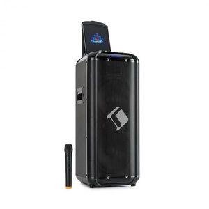 "Auna Moving 2100, PA rendszer, 2x10"" woofer, 100/300 W, UHF mikrofon, USB, SD, BT, AUX, hordozható kép"