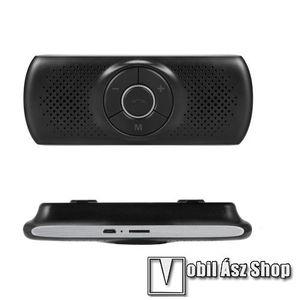 BLUETOOTH kihangosító szett - napellenzőre rögzíthető, hordozható, Bluetooth V4.1+EDR, beépített mikrofon, zajszűrő, 500mAh akkumulátor, egyszerre 2 különböző telefonnal használható! - FEKETE kép