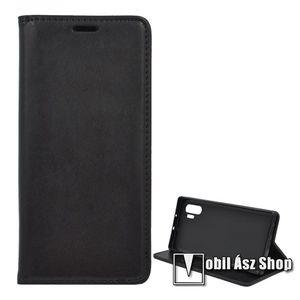 Notesz tok / flip tok - FEKETE - asztali tartó funkciós, oldalra nyíló, szilikon belső - SAMSUNG Galaxy Note10 Plus (SM-N975F) / SAMSUNG Galaxy Note10 Plus 5G (SM-N976F) kép