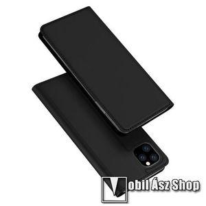 DUX DUCIS slim design notesz / mappa tok - FEKETE - oldalra nyíló flip cover, asztali tartó funkció, szilikon belső, mágneses záródás - APPLE iPhone 11 Pro Max - GYÁRI kép