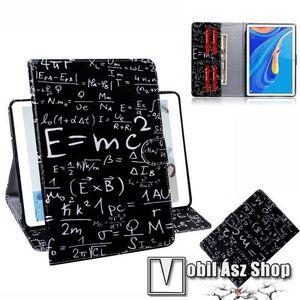 Notesz tok / mappa tok - ISKOLATÁBLA MINTÁS - asztali tartó funkciós, oldalra nyíló, rejtett mágneses záródás, bankkártyatartó zsebekkel, szilikon belső - HUAWEI MediaPad M6 10.8 kép