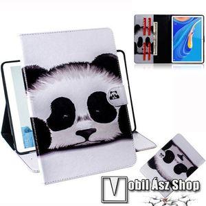 Notesz tok / mappa tok - PANDA MINTÁS - asztali tartó funkciós, oldalra nyíló, rejtett mágneses záródás, bankkártyatartó zsebekkel, szilikon belső - HUAWEI MediaPad M6 10.8 kép