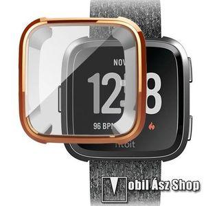 Okosóra szilikon védő tok / keret - Szilikon előlapvédő is - Fitbit Versa / Fitbit Versa Lite - ROSE GOLD kép