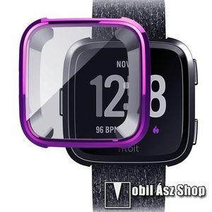 Okosóra szilikon védő tok / keret - Szilikon előlapvédő is - Fitbit Versa / Fitbit Versa Lite - LILA kép