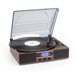 Auna TT-138 DAB, lemezjátszó, DAB+/FM, szíjmeghajtás, 33/45 fordulat/perc, vonalkimenet kép