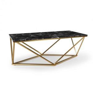 Besoa Black Onyx I, dohányzóasztal, 110 x 42, 5 x 55 cm (SZ x M x M), márvány, arany/fekete kép