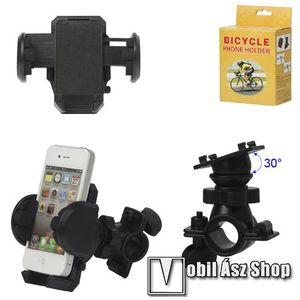 Telefon tartó kerékpár / bicikli UNIVERZÁLIS - elforgatható - 50-120 mm-ig nyíló bölcsővel kép