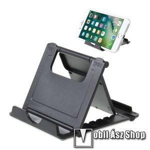 UNIVERZÁLIS asztali telefon tartó, állvány - 5 állítható szög, összecsukható - FEKETE kép