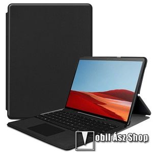 Notesz tok / mappa tok - FEKETE - asztali tartó funkciós, oldalra nyíló, műanyag belső - MICROSOFT Surface Pro X kép