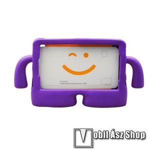 """UNIVERZÁLIS 3D tablet PC habszivacs védő keret - asztali tartó funkciós, fogantyú, ERŐS VÉDELEM! 8""""-os készülékekhez - LILA kép"""