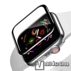 Okosóra BASEUS képernyővédő fólia - CLEAR - 1db, 0, 2 mm vékony - A TELJES ELŐLAPOT VÉDI! - FEKETE - APPLE Watch Series 4 40mm / Apple Watch Series 5 40mm - GYÁRI kép