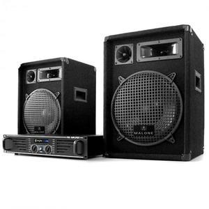 Electronic-Star DJ PA szett 1000 Wattos rendszer, erősítő, hangfalak & kábel kép