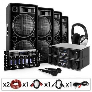 "Electronic-Star DJ PA Set ""Bass First Pro"" 2x PA–erősítő kép"