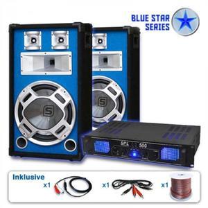 """Electronic-Star Blue Star Series """"Basskick"""" hangfalszett, 1600 W, erősítő kép"""