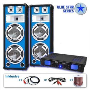 """Electronic-Star PA Szett Blue Star Széria """"Bassveteran"""" 1600 Watt kép"""