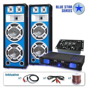 """Electronic-Star PA Szett Blue Star Széria """"Bassveteran"""" 1200 Watt kép"""