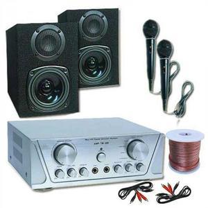 Electronic-Star Hi-fi szett HVA 200 + MC 130 + 2 mikrofon – karaoke kép