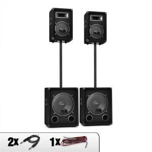 Malone Auna 2.2 DJ Sound System Hangfalak, Mélynyomó szett 2200W kép