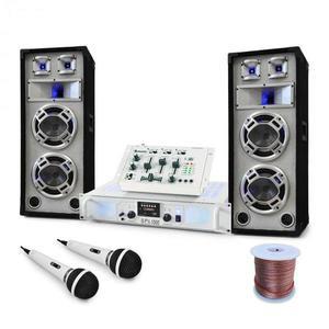 Electronic-Star DJ PA Polar Bear szett 2200W, keverőpult erősítő, hangfalak kép