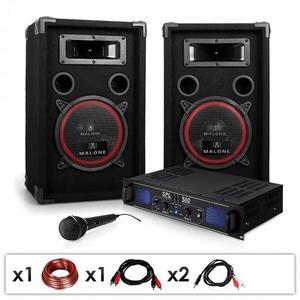 """Electronic-Star DJ PA szett """"DJ-14"""", PA erősítő, hangszórók, 1000 W kép"""