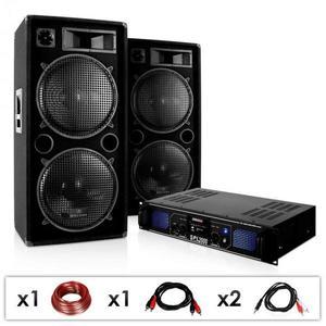 Electronic-Star DJ PA készülék DJ-42, erősítő, hangfal 3000 W kép