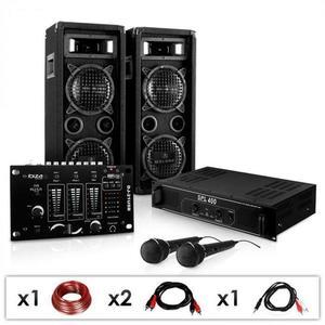 Electronic-Star DJ - PA szett DJ–24M, erősítő, keverő, hangfalak, mik, 1200W kép