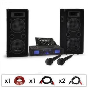 Electronic-Star DJ szett DJ-25M, erősítő, hangfalak, keverőpult, 1600 W kép