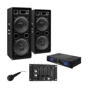 Electronic-Star DJ PA szett DJ-27, erősítő, PA hangfalak 2000W, USB, SD, MP3 kép
