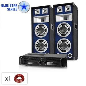 "Electronic-Star PA Set Blue Star Series ""Bassboom"" 1600 Watt kép"