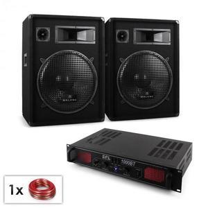 "Electronic-Star ""Malone Bluetooth SPL"" DJ PA szett, 2x hangfal 15"" (38cm), erősítő 1000W kép"