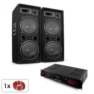 Electronic-Star Malone SPL Bluetooth MP3 hangfalszett, 2 x 12 hangfalpár, erősítő kép