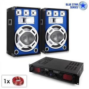 "Electronic-Star Blue Star Series ""Basscore Bluetooth"" PA szett, 1000W kép"