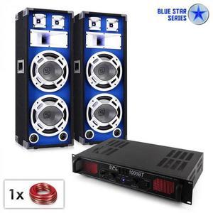 "Electronic-Star Blue Star Series ""Basssound Bluetooth"" PA szett, 1000W kép"