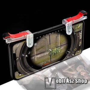 M24 érintőképernyő ravasz - PUBG, FPS, TPS, STG játékokhoz, egyszerre 4 ujjal játszhat, tároló dobozzal - FEHÉR / PIROS kép