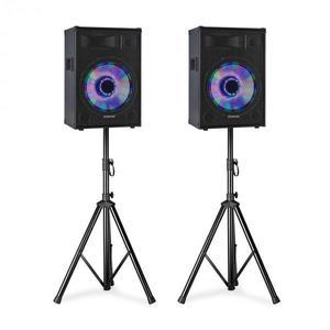 """Fenton TL15LED, PA hangszórókészlet, 2 x 15 """"passzív hangszóró, 2 x hangszóró állványok kép"""