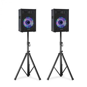 """Fenton TL10LED, PA hangszórókészlet, 2 x 10 """"passzív hangszórók, 2 x hangszóró állványok kép"""