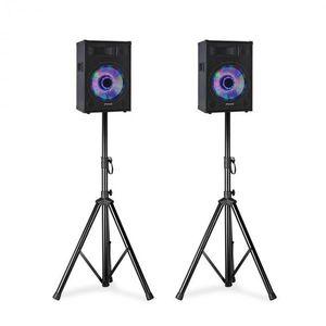 """Fenton TL8LED, PA hangszórókészlet, 2 x 8 """"passzív hangszóró, 2 x hangszóró állványok kép"""