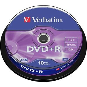 DVD+R Verbatim 4, 7 GB 16x speed, 10 db cakebox csomag kép