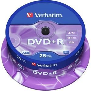 Verbatim DVD + R 16x, 25db cakebox kép