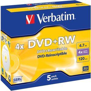 Verbatim DVD+RW 4x, 5 db - tokokban kép