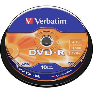 Verbatim DVD-R 16x, 10db cakebox kép