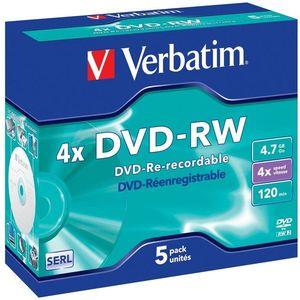 Verbatim DVD-RW 4x, 5 db - tokokban kép