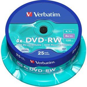Verbatim DVD-RW 4x, 25 db cakebox kép