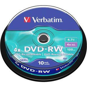 Verbatim DVD-RW 4x, 10 db egy cakeboxban kép